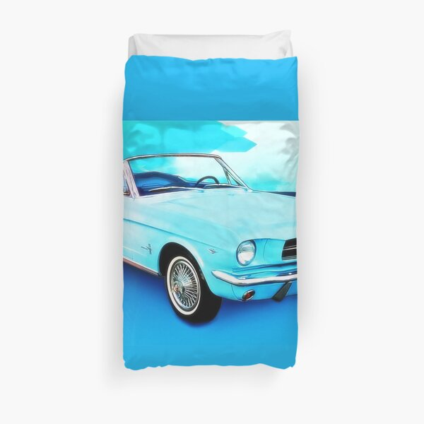 Sixty Four and a Half Mustang Convertible Miss B Duvet Cover
