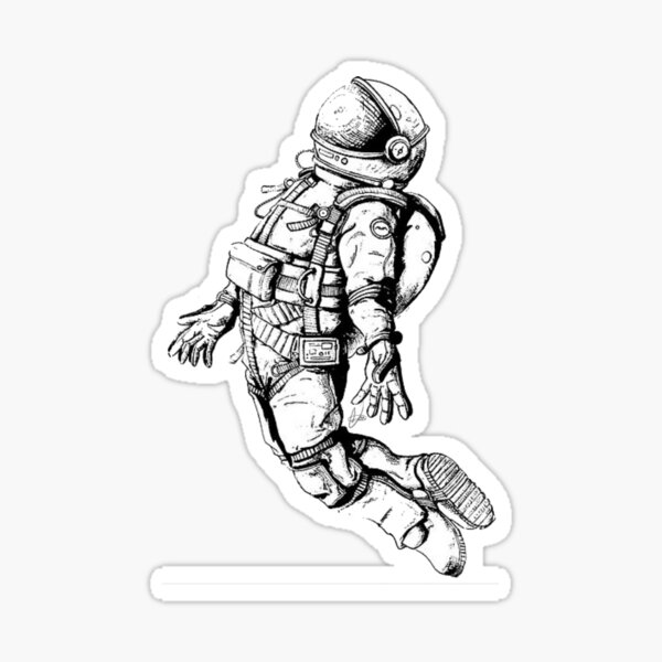 dibujo de astronauta Pegatina
