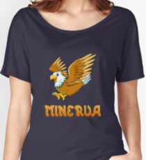 Minerva Eagle Sticker Women's Relaxed Fit T-Shirt