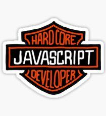 Hardcore JavaScript Developer Sticker
