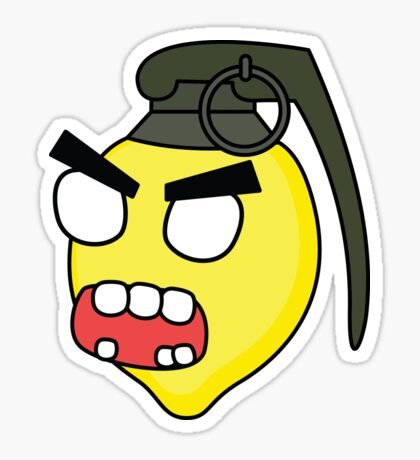 angry zombie combustible lemon Glossy Sticker