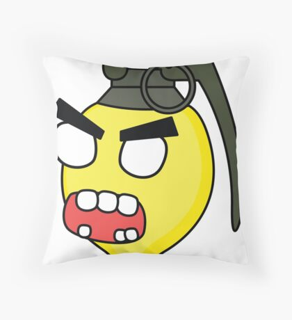 angry zombie combustible lemon Throw Pillow