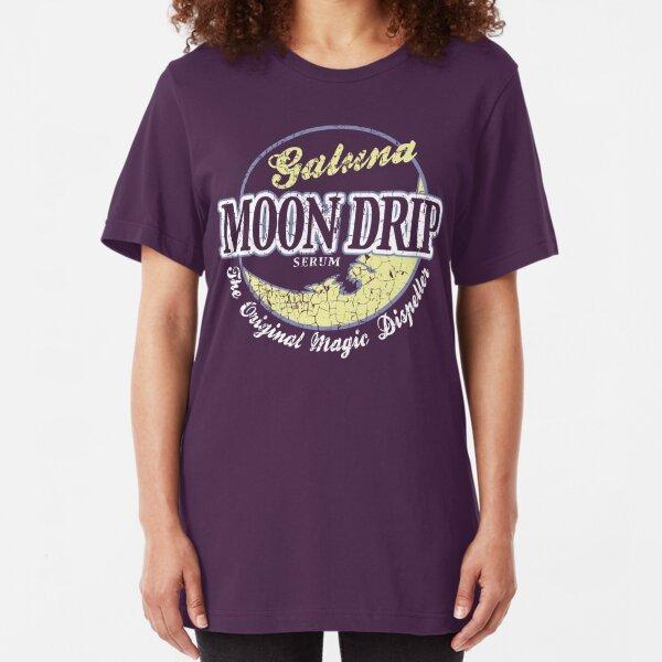 Galuna Moon Drip Slim Fit T-Shirt
