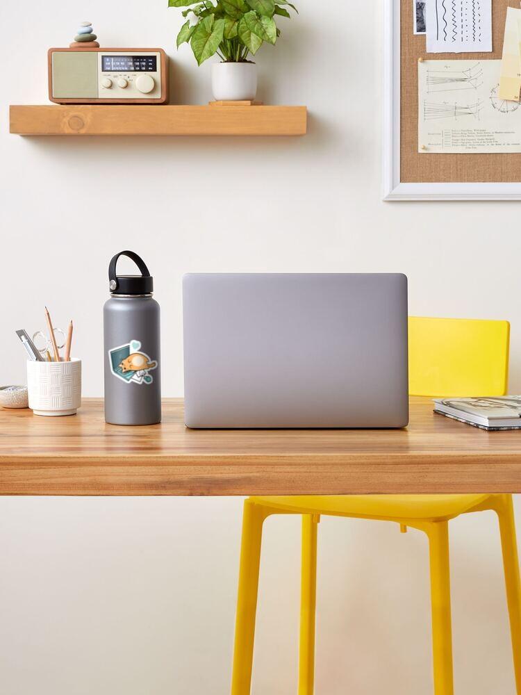 Alternative Ansicht von Nette Laptop-Katze Sticker
