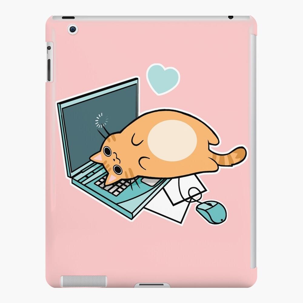 Nette Laptop-Katze iPad-Hülle & Skin