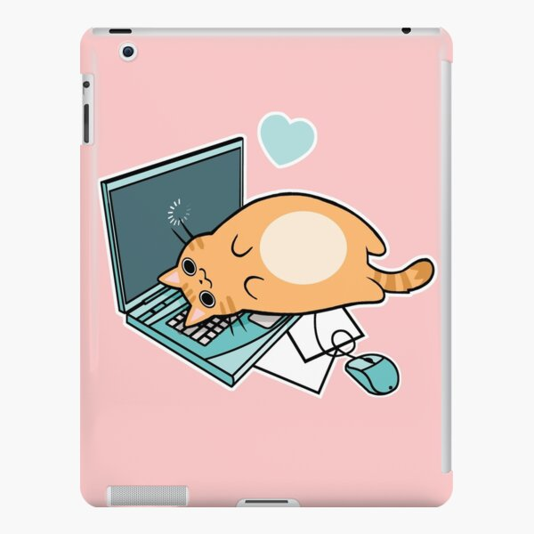 Cute Laptop Cat iPad Snap Case