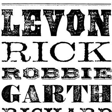 THE BAND Levon Rick Robbie Garth Richard by cowbellnation