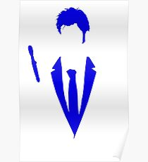 10th Doctor Who Minimalist Blue Poster