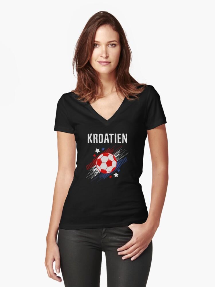 Croatia Soccer Shirt Fan Football Gift Cool Funny Quote - Croatia Soccer  Tee Shirts Women s Fitted 57439b838
