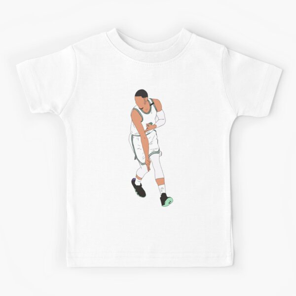Jayson Tatum 3 Point Celebration Kids T-Shirt