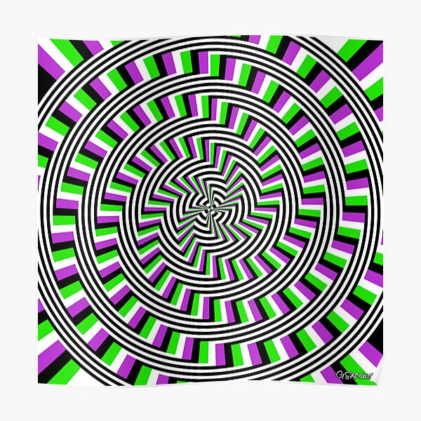 Self-Moving Unspirals Poster