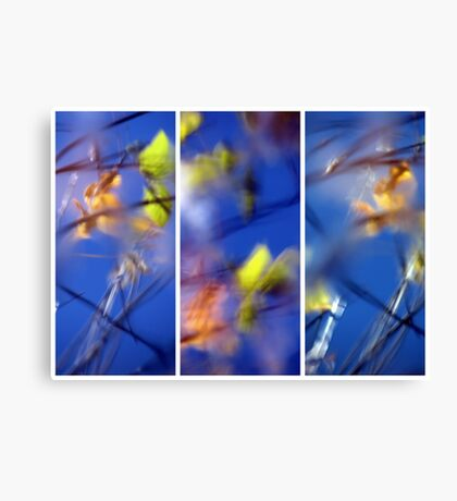 Beyond Blue - Triptych Canvas Print