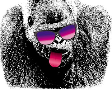 Gorilla Ape Sunglasses T-shirt by FunnyAddicting