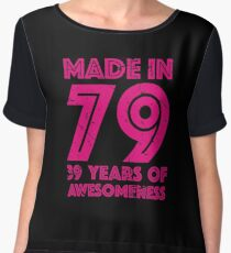 39th Birthday Gift Adult Age 39 Year Old Women Womens Chiffon Top