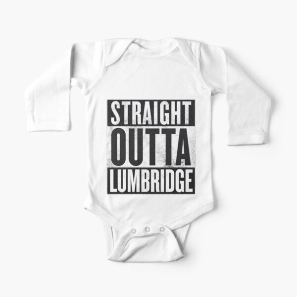Straight Outta Lumby Long Sleeve Baby One-Piece