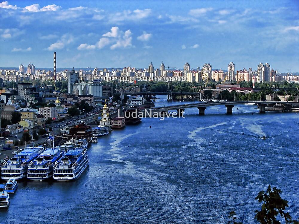 Kiev - view on River Port by LudaNayvelt