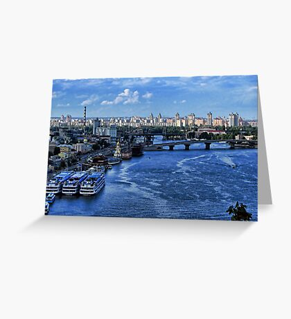 Kiev - view on River Port Greeting Card