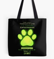 Miraculous Ladybug - Chat Noir / funny cat puns Tote Bag