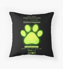 Miraculous Ladybug - Chat Noir / funny cat puns Throw Pillow