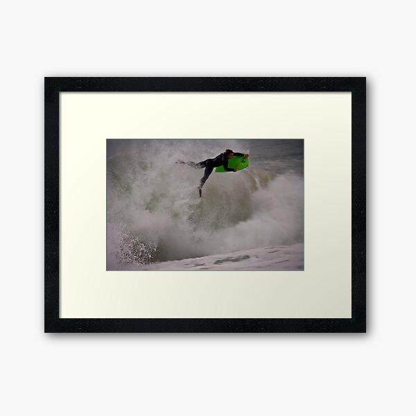 Flying The Hard Way. Framed Art Print