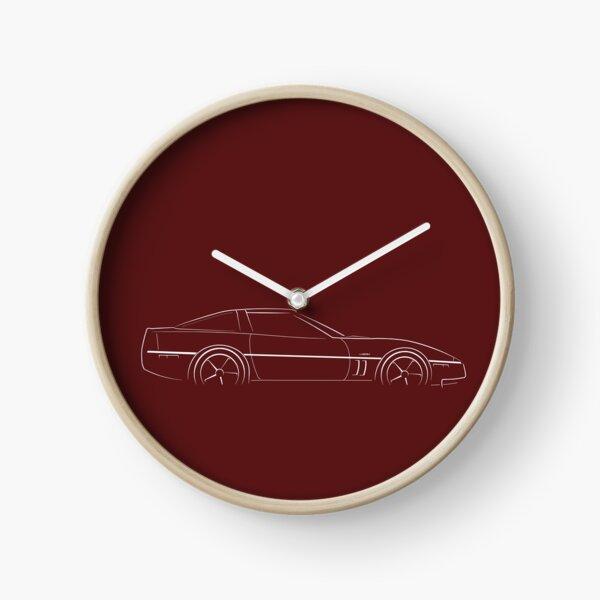 Chevy C4 Corvette ZR-1 - profile stencil, white Clock