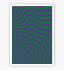 Op-Art Green/Purple Sticker