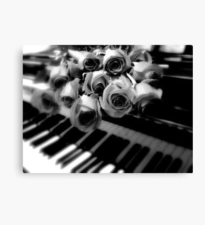 music & roses © 2009 patricia vannucci  Canvas Print