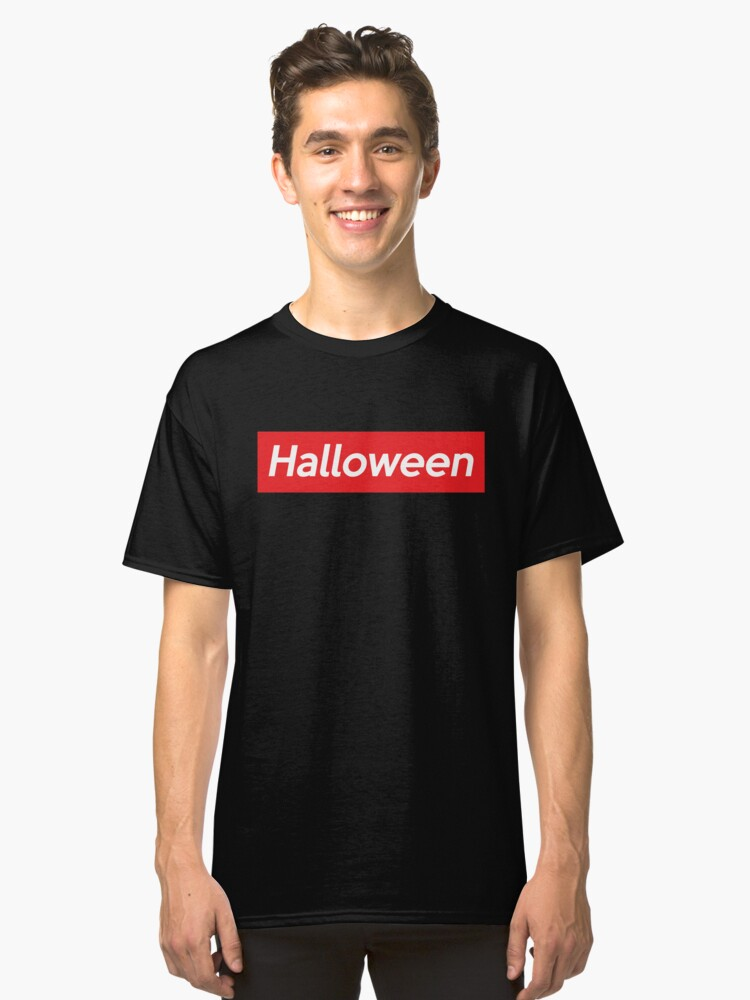 Supreme Shirt Halloween Fashionable Street Wear Fake Brand Parody Classic T-Shirt Front