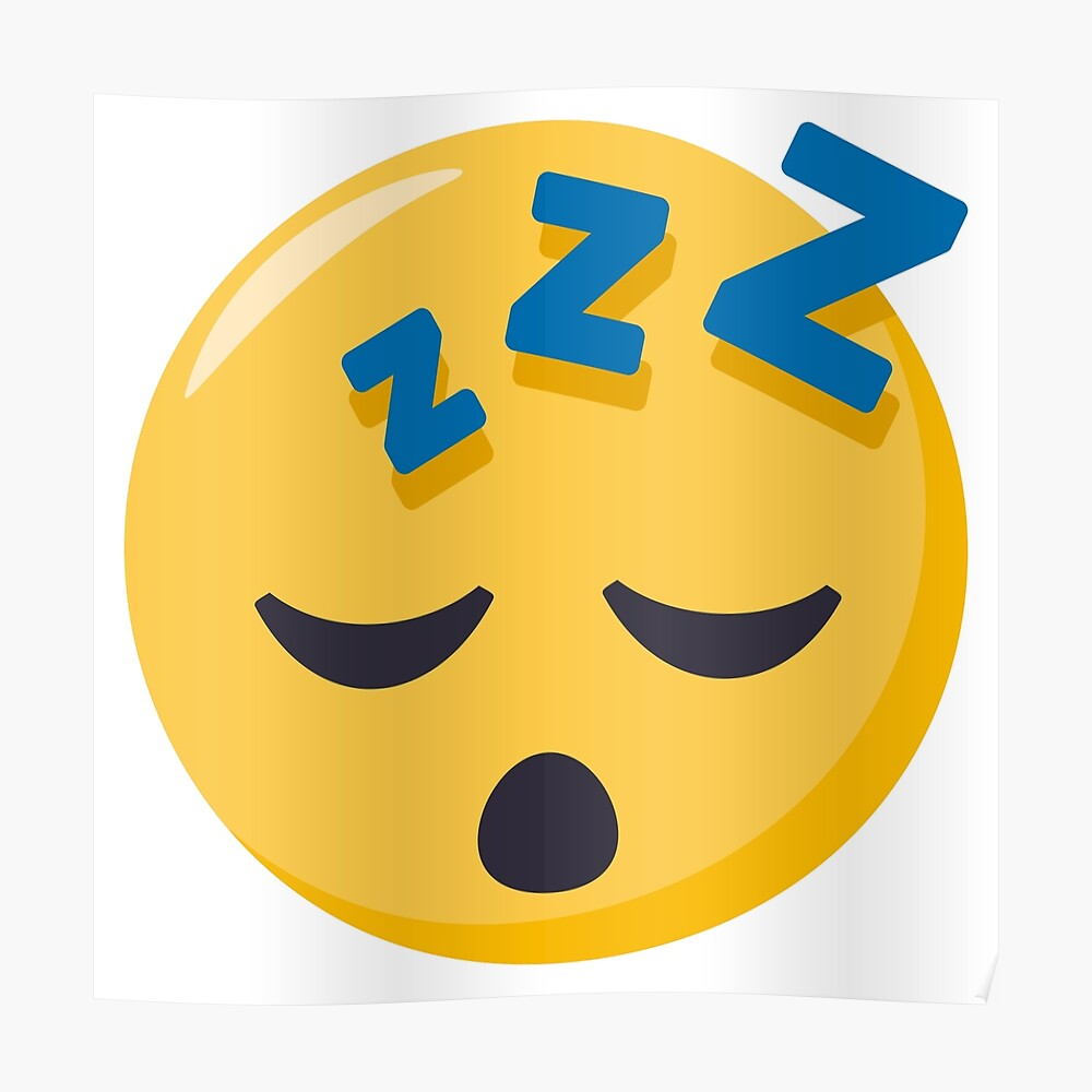 Joypixels sleeping face emoji poster by joypixels redbubble