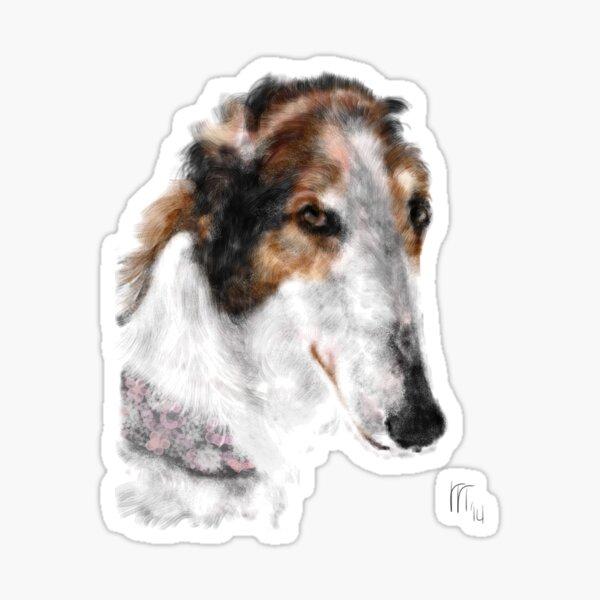 Beautiful Borzoi Russian Wolfhound  Sticker