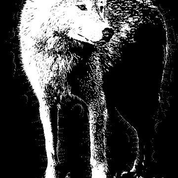 white wolf shirt by drumweaver