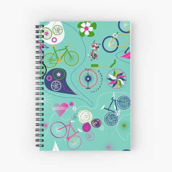 Cycledelic Teal Spiral Notebook