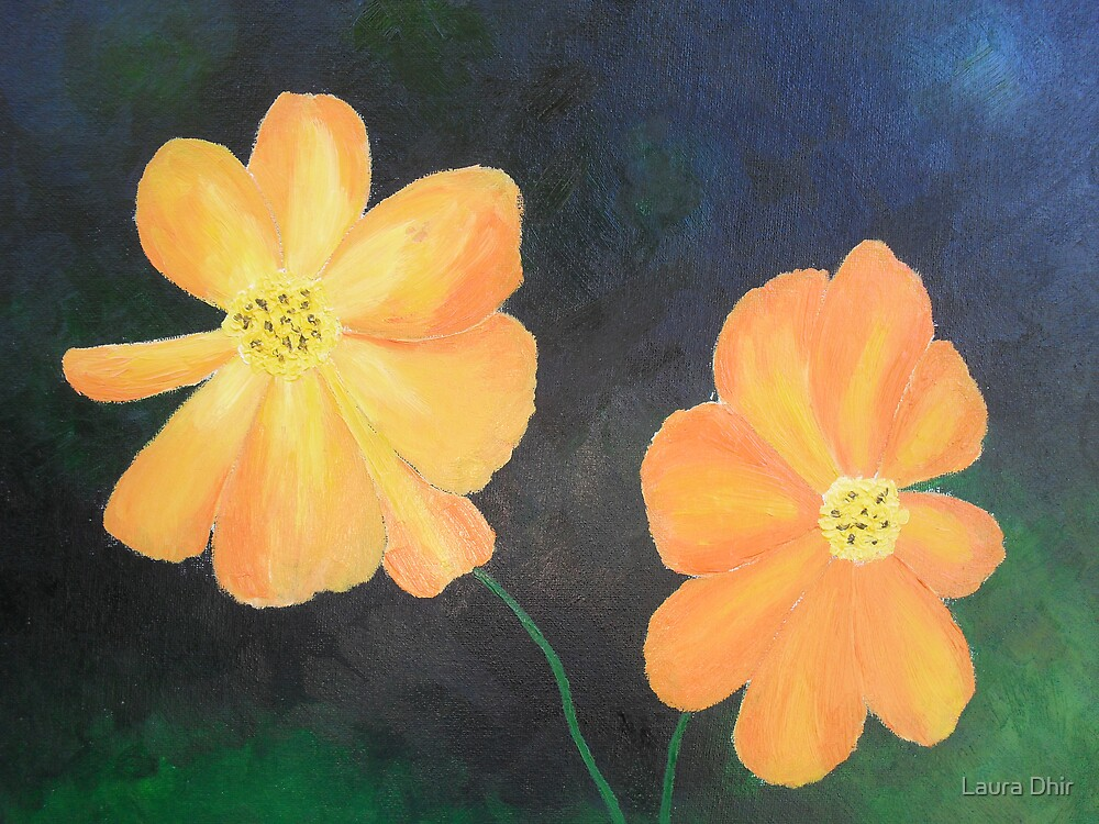 Orange Poppies by Laura Dhir