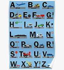 Planes, Trains, and Automobiles Alphabet - Structured Poster