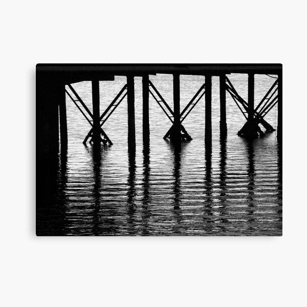 Crossed Piers Canvas Print