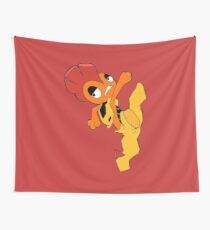 Scrafty Pokemon Falling Wall Tapestry