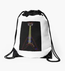 Flying V Guitar Drawstring Bag