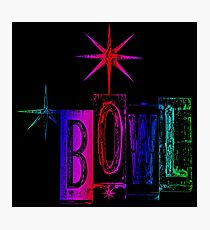 bowling is groovy Photographic Print