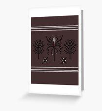 Knitted Slenderman Greeting Card
