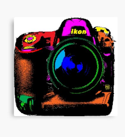 Camera pop art Canvas Print