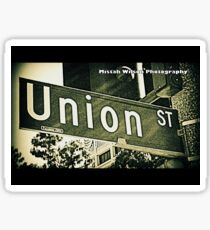 Union Street1 Pasadena CA by Mistah Wilson Photography Sticker