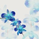 Blue Orchid Painted Pattern by FreakorGeek