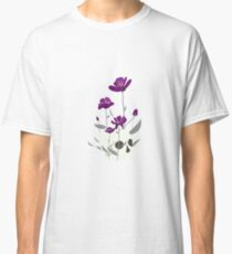 Skull with Flowers Classic T-Shirt