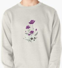 Skull with Flowers Pullover Sweatshirt