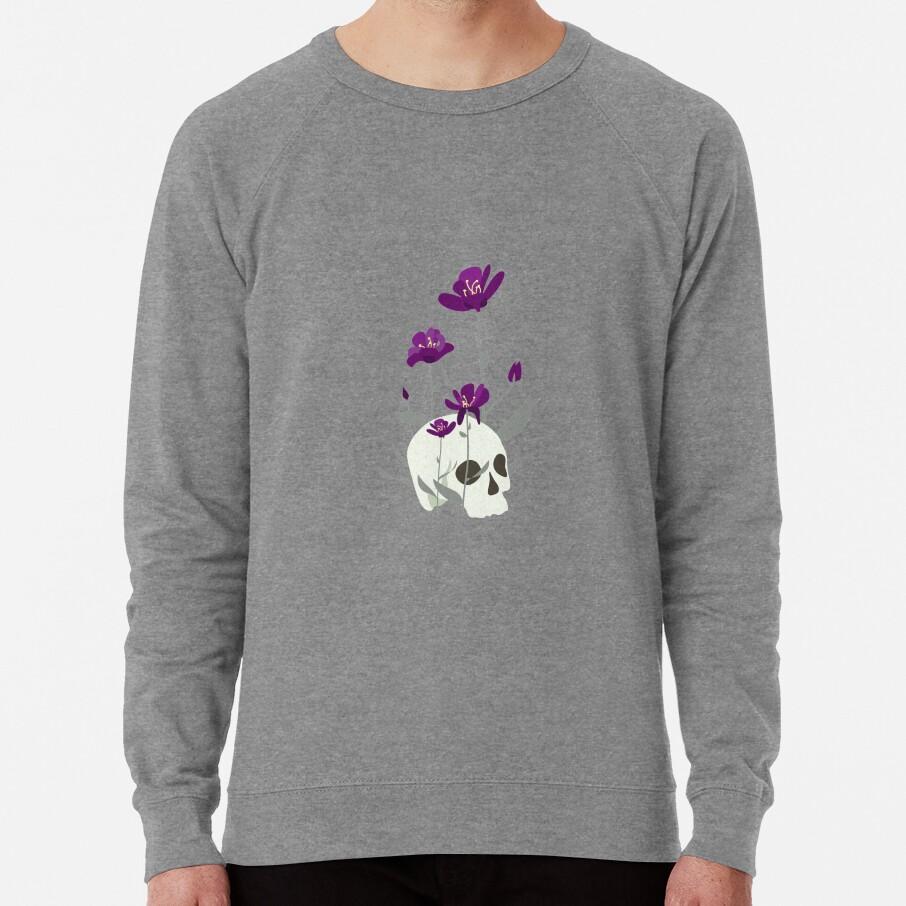 Skull with Flowers Lightweight Sweatshirt