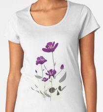Skull with Flowers Premium Scoop T-Shirt