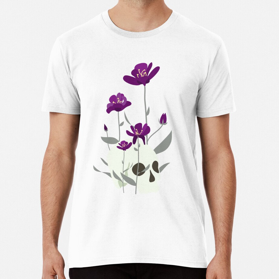 Skull with Flowers Premium T-Shirt