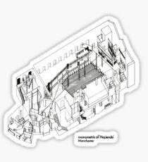 Axonometric of Hacienda in White Sticker