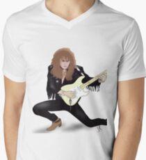 Yngwie Malmsteen Rising Force Digital Drawing Men's V-Neck T-Shirt