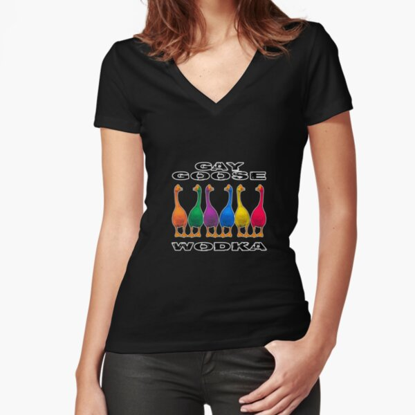 Gay Goose Wodka Fitted V-Neck T-Shirt